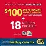 Ofertas Best Buy el Buen Fin 2016: $100 en cupones por cada $1,000 de compra y 18 meses sin intereses + 1 mes de bonificación