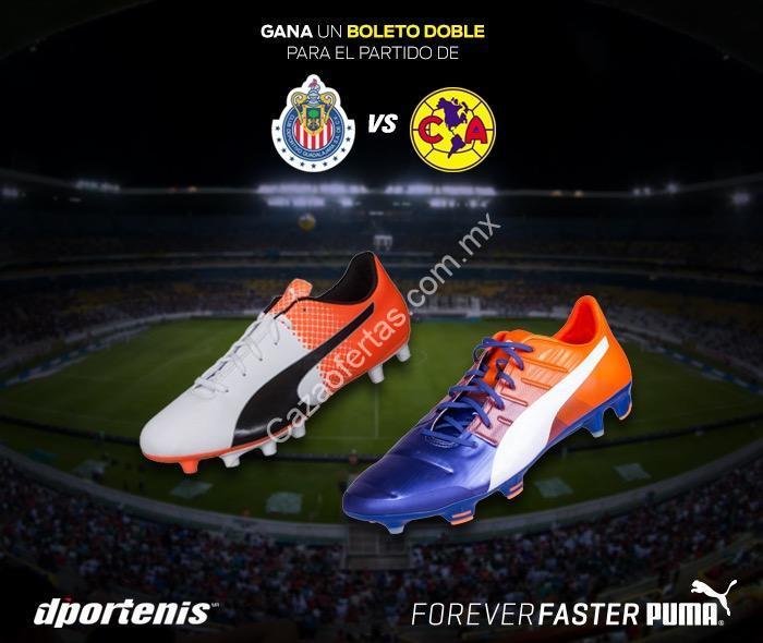 Boletos GRATIS para el Chivas vs América si compras unos taquetes Puma en Dportenis  Plaza Guadalajara b834de77c2d5b