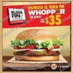 Ofertas Burger King Buen Fin 2016: whopper sin queso a $35