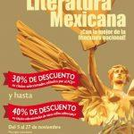 Feria de la Literatura Mexicana FCE: Hasta 40% de descuento en títulos seleccionados