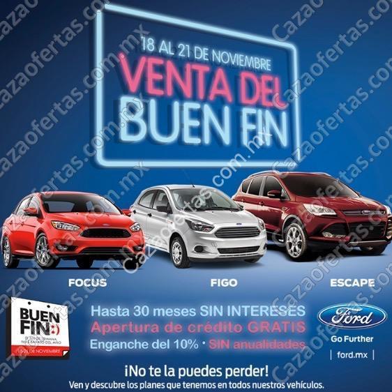 Promociones Ford El Buen Fin 2016 Hasta 30 Meses Sin Intereses
