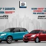 Promociones Suzuki El Buen Fin 2016: Seguro o garantía extendida gratis en Vitara y Swift