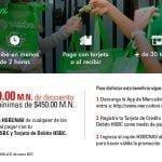 Cupón Mercadoni HSBC: $200 de descuento en compras de $450 o más