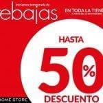 En Home Store rebajas de hasta 50% de descuento en toda la tienda
