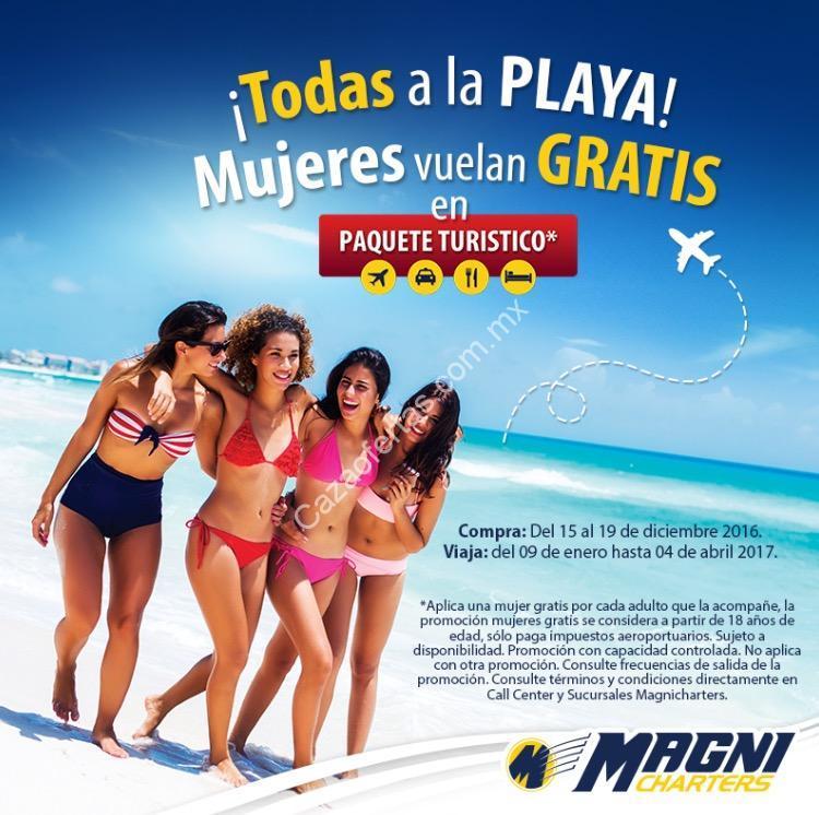 En Magnicharters Mujeres Vuelan Gratis En Paquetes De Playa