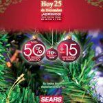 Venta especial Navideña Sears 25 de diciembre: Hasta 50% de descuento directo + hasta 15 meses sin intereses sólo hoy