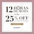 Promoción Studio F 12 horas de moda: 25% de descuento en toda la tienda
