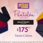 Artículo de la semana Suburbia 2 al 8 de enero: Pantalones para dama Pierre Cardin a $175 cada uno