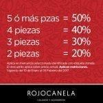 Descuentos escalonados en Rojocanela: Hasta 50% de descuento dependiendo de las prendas que compres