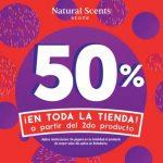 En Natural Scents 50% de descuento en toda la tienda a partir del segundo producto