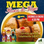 Mega Rosca de Reyes GRATIS en Plaza Azcapotzalco hoy 6 de enero