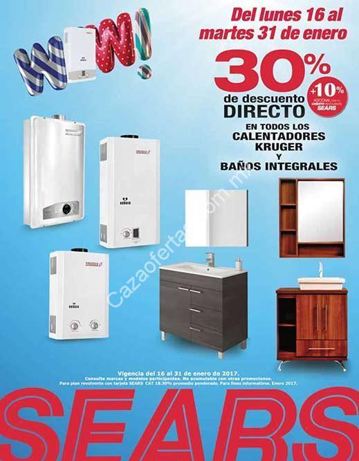 En Sears 30% de descuento en muebles para baño y calentadores