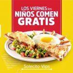 Promoción Vips niños comen GRATIS los Viernes a partir del 6 de enero