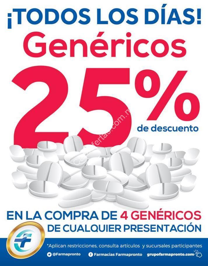 En Farmapronto 25% de descuento en la compra de 4