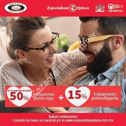 Promoción de San Valentín en Especialistas Ópticos y Óptica Mericana  50%  de descuento en segundo armazón y más 64ff19b827