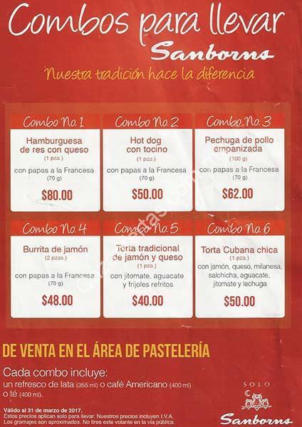 Sanborns comida para llevar en combos bebida con precios for Sanborns de los azulejos precios