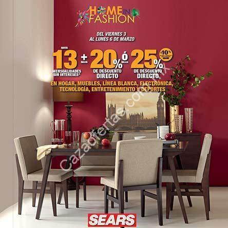 En Sears hasta 25% de descuento en muebles, electrónica y hogar