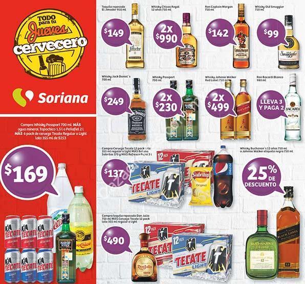 Soriana Jueves Cervecero Con 3×2 En Ron Bacardi Y 25% En