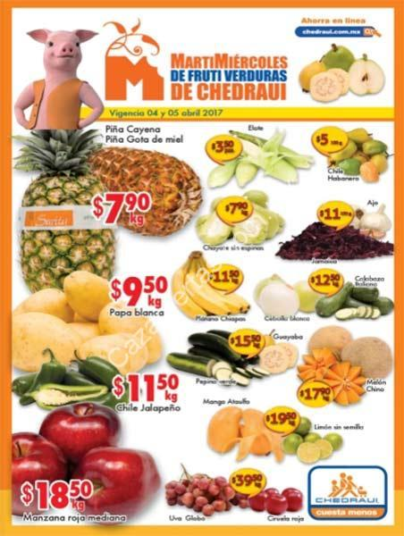 Ofertas Chedraui en frutas y verduras Martimiércoles 4 y 5