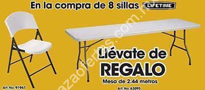En office max mesa gratis en la compra de 8 sillas plegables for Compra de sillas plegables