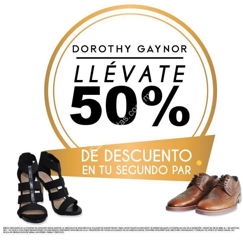 cd75068829046 En Dorothy Gaynor 50% de descuento en segundo par de zapatos (de hombre y  mujer)