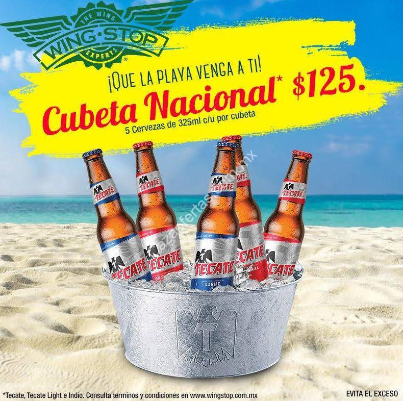Promoción Wingstop vacaciones: Cubeta de cerveza a sólo $125