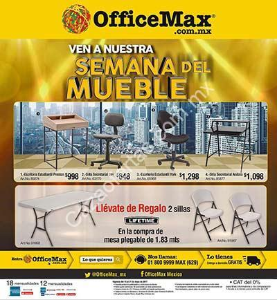 Semana del mueble office max con precios especiales y for Sillas para oficina office max