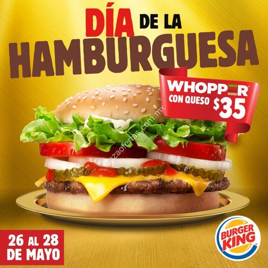 promoci u00f3n burger king d u00eda de la hamburguesa del 26 al 28