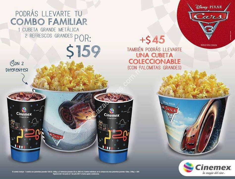 nuevo combo de cars 3 en cinemex. Black Bedroom Furniture Sets. Home Design Ideas