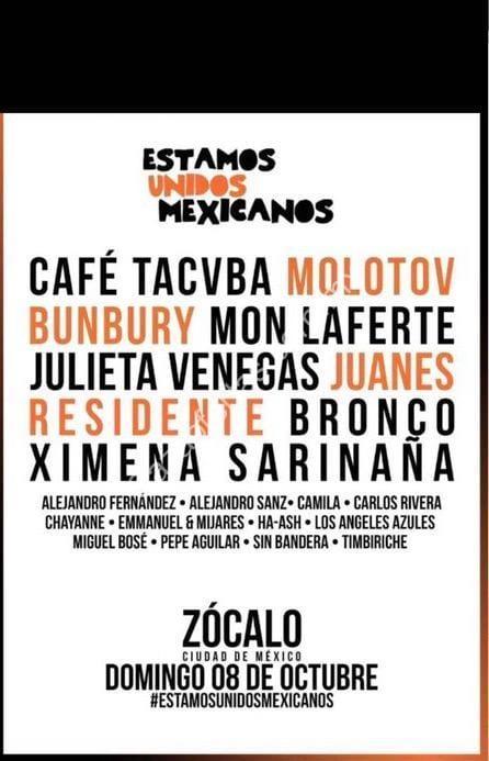 Concierto Gratis En El Zócalo Este 8 De Octubre Con Café Tacvba