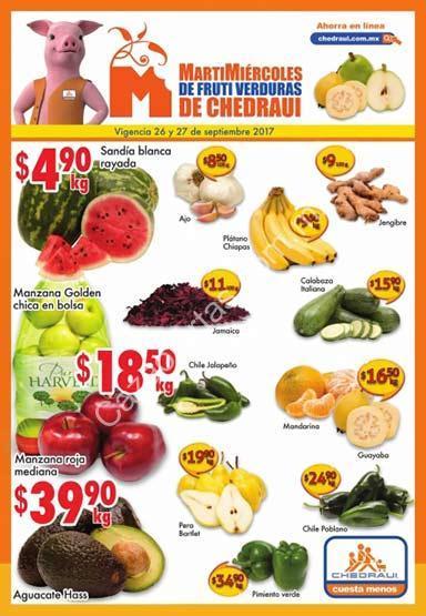 ofertas chedraui en frutas y verduras martimiércoles 26 y 27 de