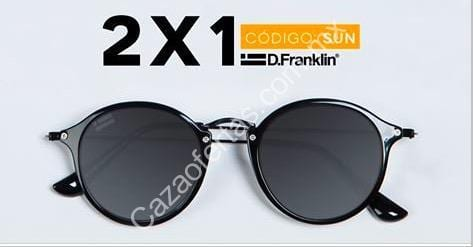 d67370cd9c Mid Season Sale Dr. Franklin: 2×1 en lentes de sol con el código SUN