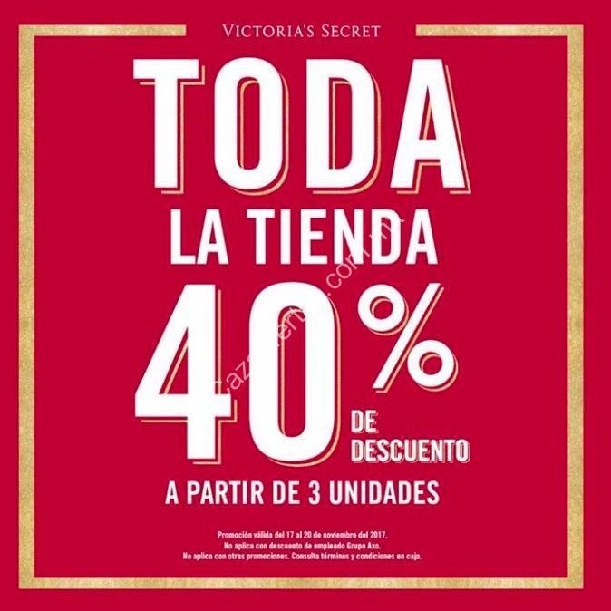 40f8790aa4 Promoción Victorias Secret Buen Fin 2017  40% de descuento a partir de 3  unidades