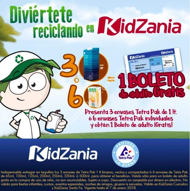 Promoción Kidzania Tetra Pak: Boleto de adulto gratis si llevas ...