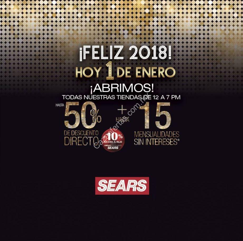 a36e3bb00 Venta Especial Sears 2018 hoy 1 de enero  Hasta 50% de descuento + hasta 15  msi