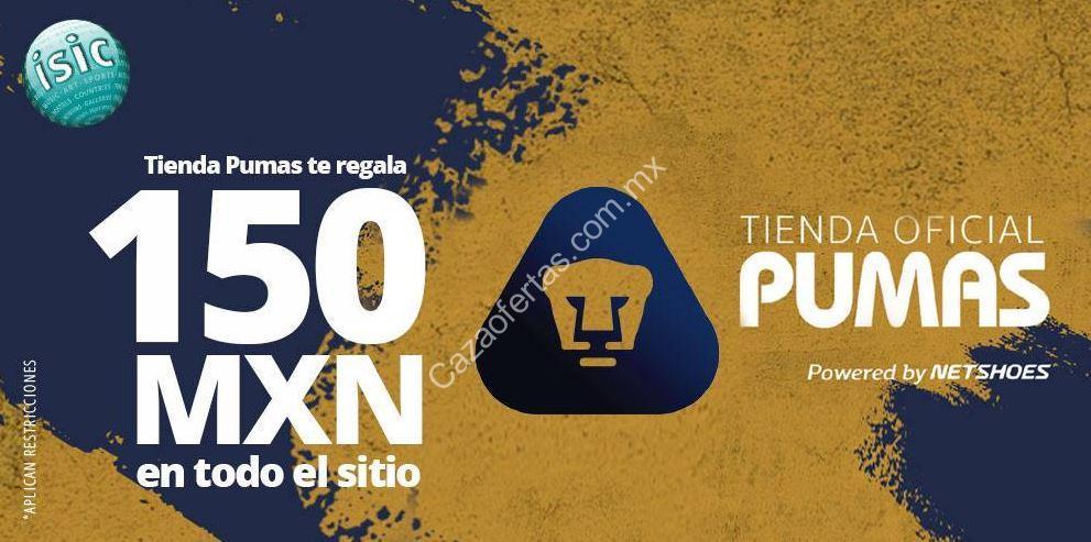 7fb9acb50 Cupón Tienda Pumas de $150 de descuento en todo el sitio cortesía de ISIC