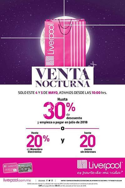 Venta Nocturna Liverpool 2018 4 y 5 de mayo: hasta 30% de ... - photo#50