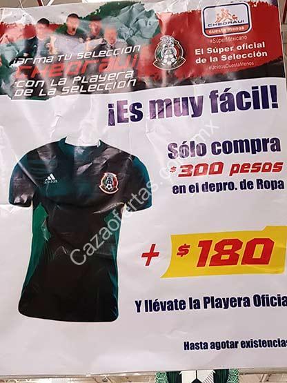 f1c9795e6a2a3 En Chedraui playera oficial de la Selección Mexicana a  180 pesos en la  compra de  300 en ropa