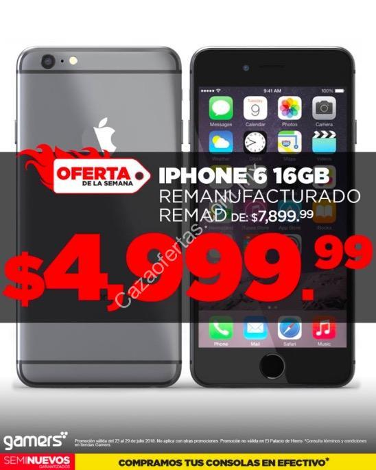 8abe8cd4877 Oferta de la semana Gamers en celulares: iPhone 6 de 16GB remanufacturado a  $4,999