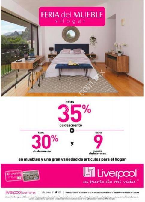 Promoci n liverpool feria del mueble y hogar hasta 35 de descuento en muebles y hogar hasta el - Hogar del mueble ...