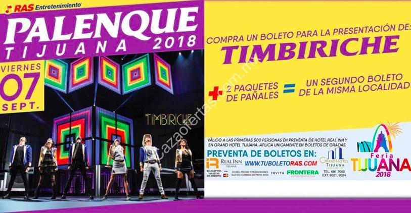21 En Boletos Para Timbiriche En El Palenque De Tijuana Donando 2