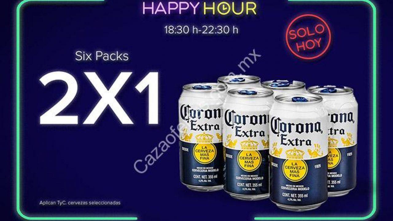 Promoción Rappi de 2×1 en six packs de cerveza hoy de 6:30 a