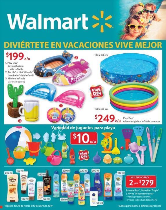 Folleto De Ofertas Walmart Vacaciones Del 28 De Marzo Al 10