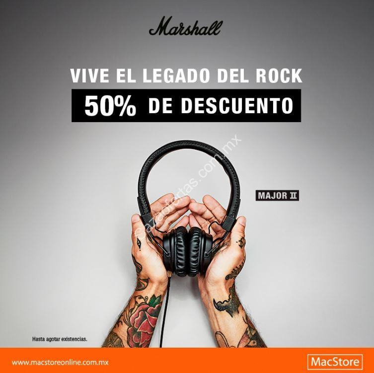 a3731413b319a En MacStore hasta 50% de descuento en audífonos Marshall