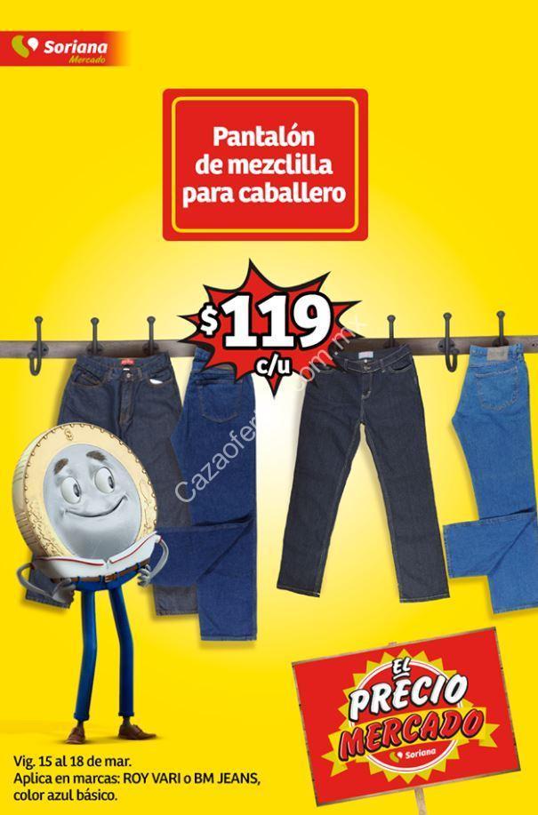 En Soriana Mercado Pantalones De Mezclilla Para Caballero A 119 Pesos