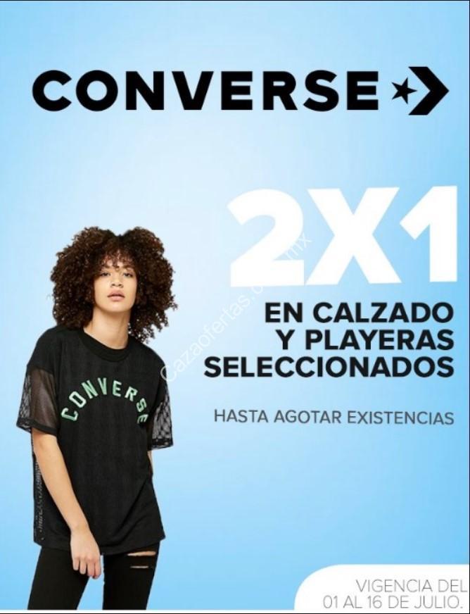 Risa Descenso repentino Lima  Promoción 2×1 en tenis y playeras Converse en tiendas outlet