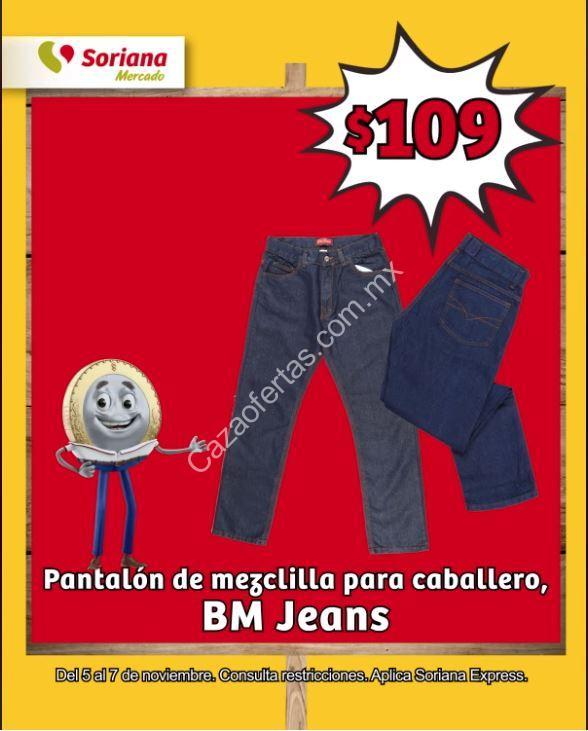 En Soriana Mercado Pantalones De Mezclilla Para Caballeros Bm Jeans A Solo 109 Pesos