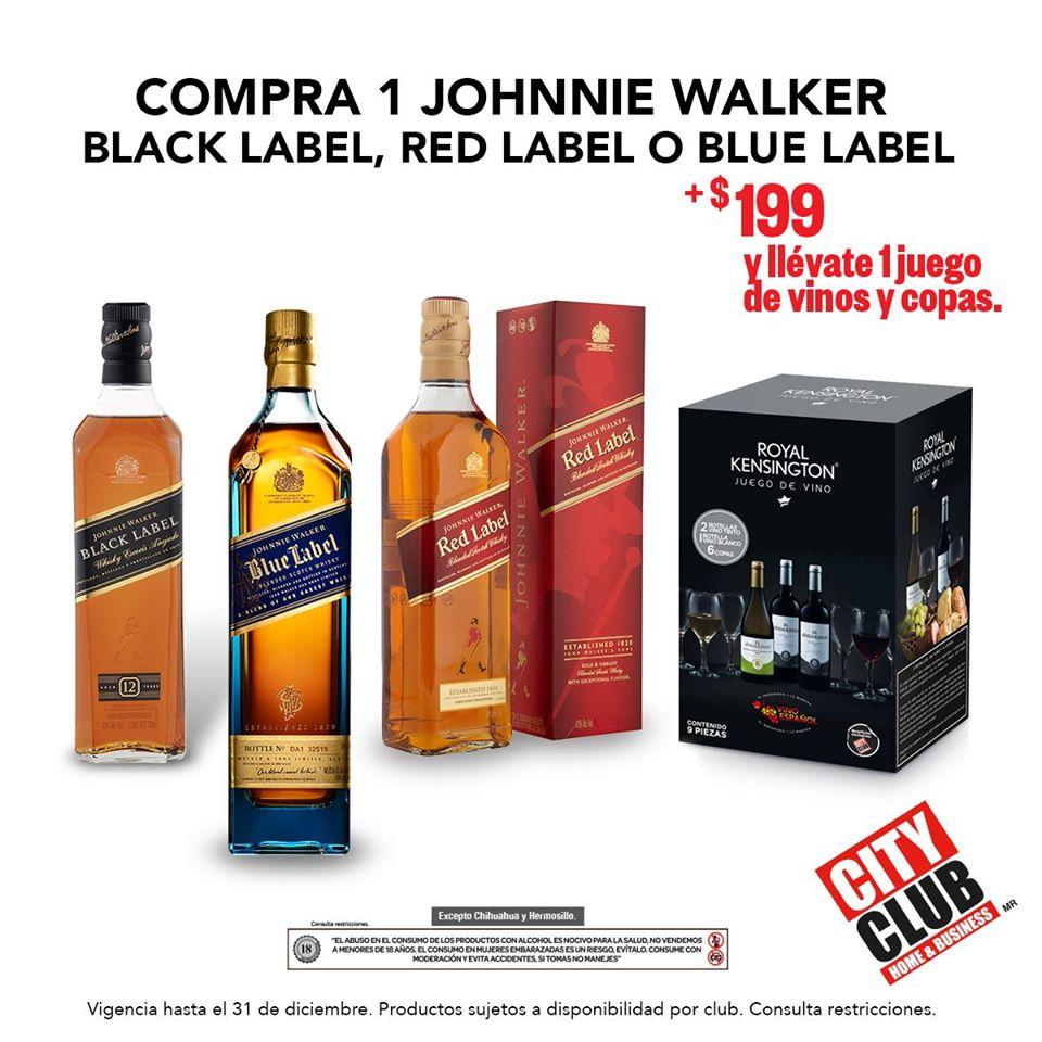 Promoción City Club Año Nuevo: Compra Un Whisky Johnnie