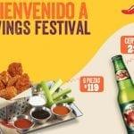 Promoción Chilis Wings Festival de alitas y cervezas desde $29 pesos