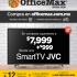 En Office Max pantalla Smart TV JVC por $999 en la compra de $7,999 + 12 MSI